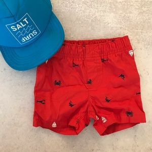 🌟Carter's Red Sailing Shorts (6 months)